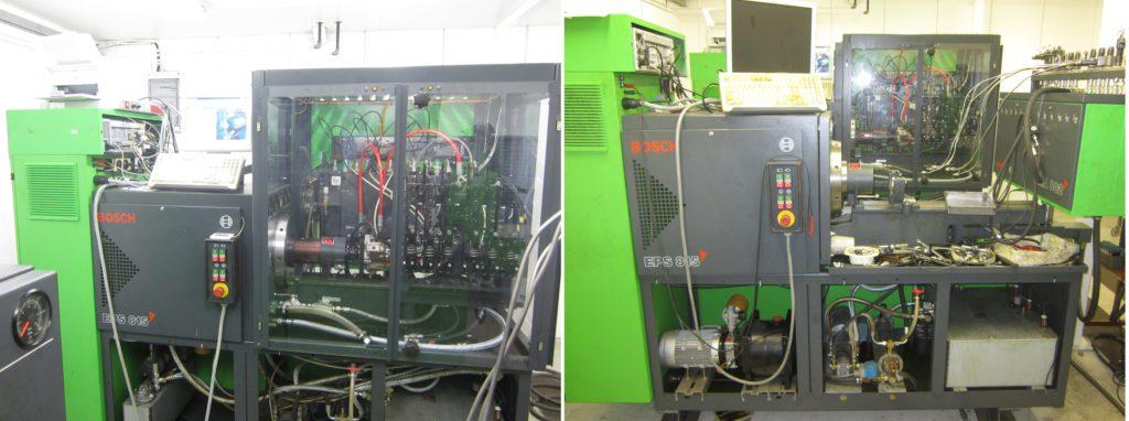 Bosch EPS 815 VP pumppujen ajoon, commonrail testaukseen ja Bosch pumppusuutinten ja yksikköpumppujen testaukseen sekä Bosch EPS 815 EDC ja Perinteisten Rivi - ja jakajapumppujen ajoon